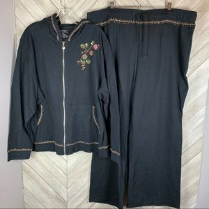 Venezia sport embroidered hoodie set 26/28